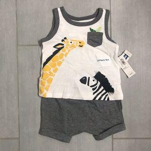 Baby boys tank and shorts set